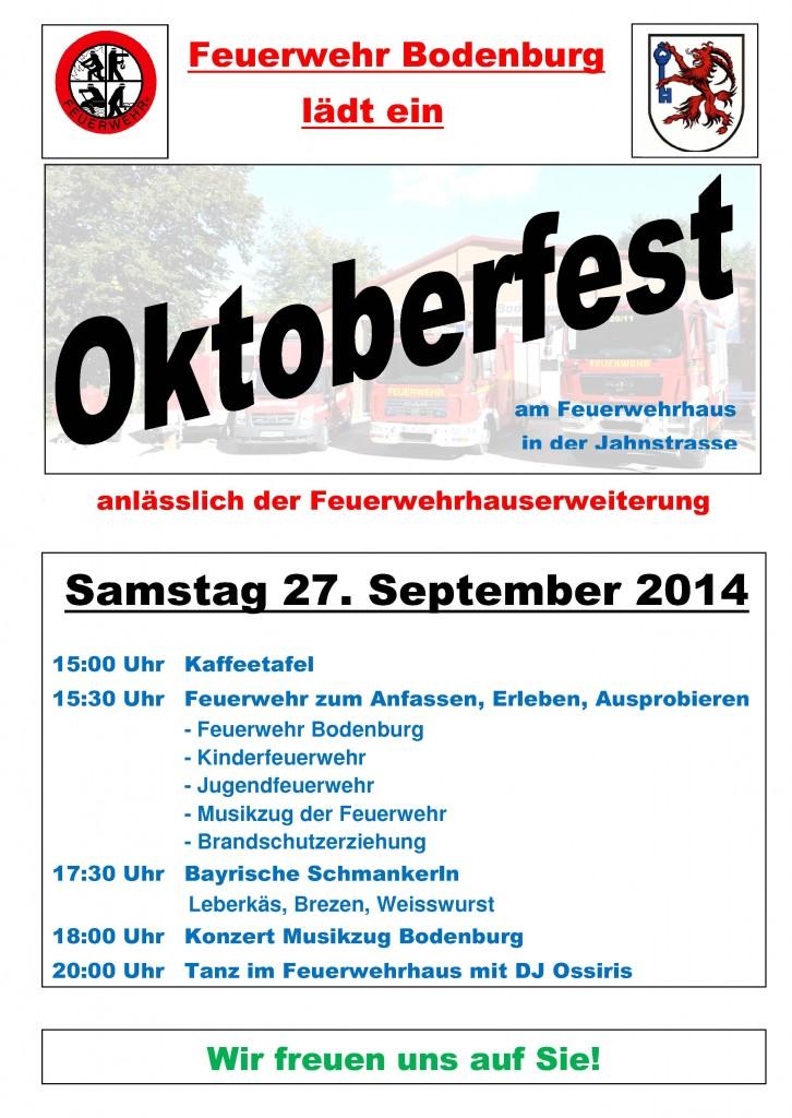 Plakat Oktoberfest FF