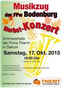 Plakat Herbstkonzert 17.10.2015